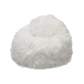 White Icelandic Sheepskin Bean Bag