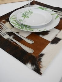 Brown-White Cowhide Placemats