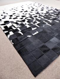 Toro, Zwart-Wit Dégradé Patchwork Tapijt, 160 x 230 cm