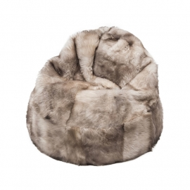 Beige Sheepskin Bean Bag