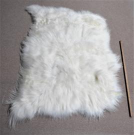 White Icelandic Sheepskin Rug, Triple, +/- 115 x 155 cm (70)