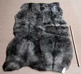 Grey Shorn Quadruple Sheepskin Rug, +/- 135 x 205 cm