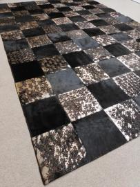 Bruin-Brons Gelazerd Patchwork Tapijt, 200 x 300 cm