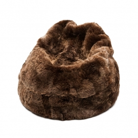 Brown Shorn Sheepskin Bean Bag