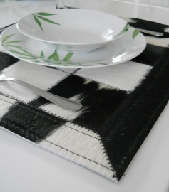 Black- White Cowhide Placemats