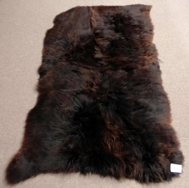Brown Quadruple Sheepskin Rug, +/- 120 x 195 cm