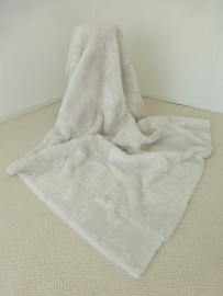 Witte Geschoren Schapenvacht Plaid/Deken, 120 x 180 cm
