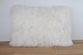 White Shorn Sheepskin Cushion