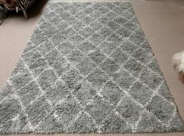 Beni Ouarain Rug - 6 - Grey/White