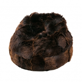 Brown Sheepskin Bean Bag