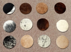 Cowhide Underlay for Glasses (packet  of 12 pieces)
