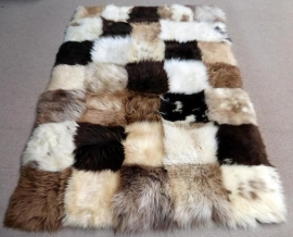 Sheepskin Rug Natural Mix, 150 x 210 cm