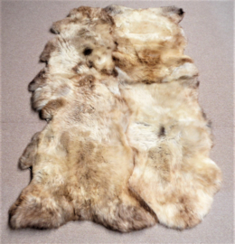 Beige Sheepskin Rug, Quadruple, 115 x 200 cm