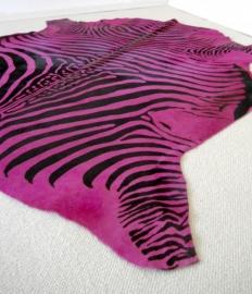 Pink Zebra Printed Cowhide
