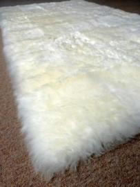 Wit Geschoren Schapenvacht Tapijt, 100 x 180 cm