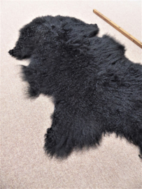 Black Curly Mongolian Sheepskin (3652)
