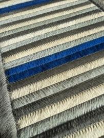 Tafelloper in Koeienhuid - Grijs/Blauw