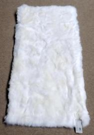 White Sheepskin Rug, 65 x 130 cm