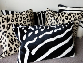 Zebra and Leopard Cushions