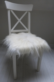 Chair Pad Icelandic Sheepskin, White, Long wool