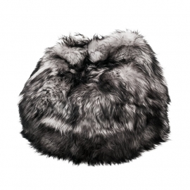 Grey with Black Tips Icelandic Sheepskin Bean Bag