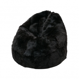 Black Shorn Sheepskin Bean Bag