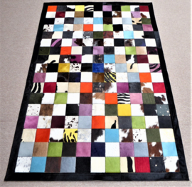Multicolor Koeienhuid Patchwok Tapijt, 120 x 180 cm