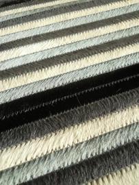 Tafelloper in Koeienhuid - Zwart/wit