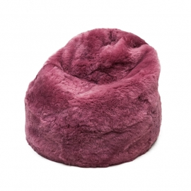 Pink Shorn Sheepskin Bean Bag