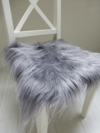Chair Pad Icelandic Sheepskin, Silver grey, Long wool