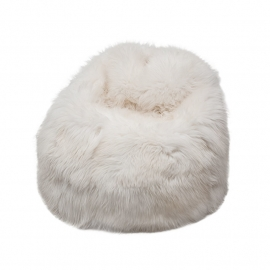 White Sheepskin Bean Bag