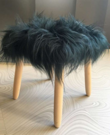 Bottle Green Icelandic Sheepskin Stool