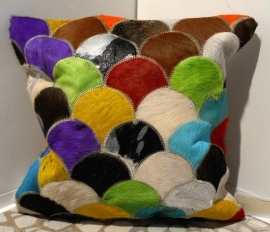 Multicolor Cowhide Cushion (1)