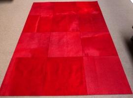 Rood Patchwork Tapijt, 180 x 240 cm
