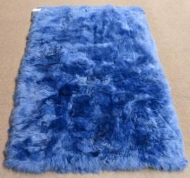 Blue Sheepskin Rug, 120 x 170 cm