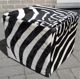 Koeienhuid Poef Zebra-print