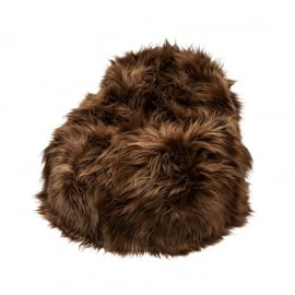 Copper Brown Icelandic Sheepskin Bean Bag