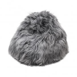 Grey Icelandic Sheepskin Bean Bag