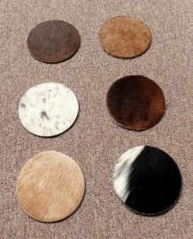 Cowhide Underlay for Glasses (packet of 6 pieces)