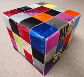 Koeienhuid Poef, Multicolor