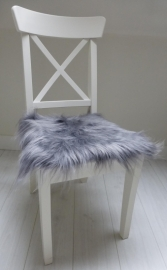 Chair Pad Icelandic Sheepskin, Silver grey, Long wool