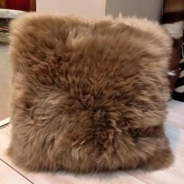 Taupe Sheepskin Cushion