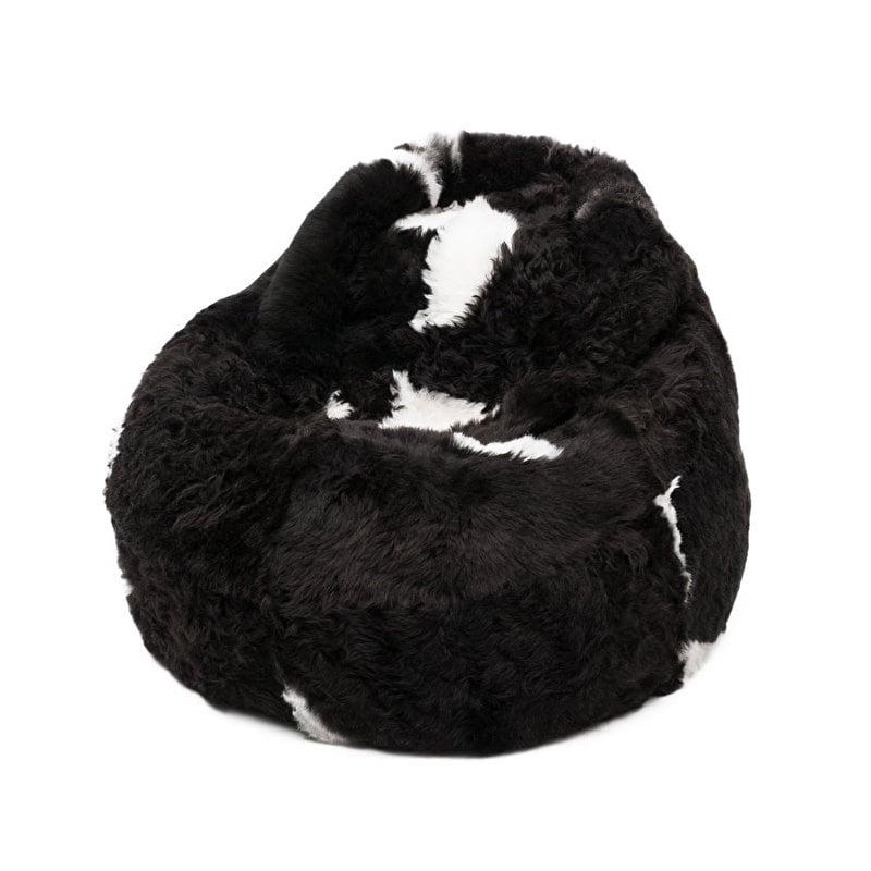 Dark Spotted Shorn Sheepskin Bean Bag