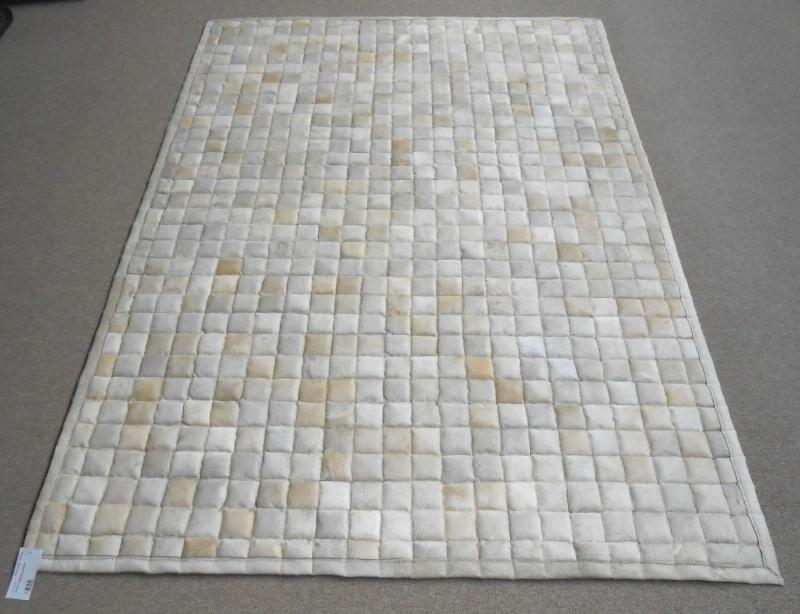 Wit Patchwork Tapijt, 120 x 170 cm