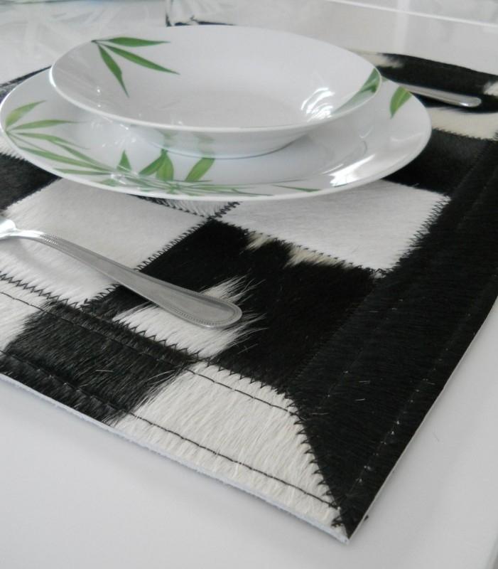 Zwart-Witte Koeienhuid Placemats