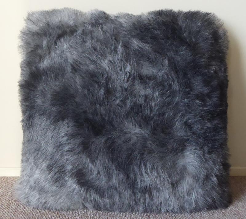 Grey Shorn Sheepskin Cushion (6)