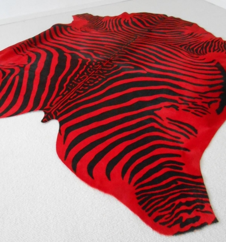 Imitatie zebrahuid rood