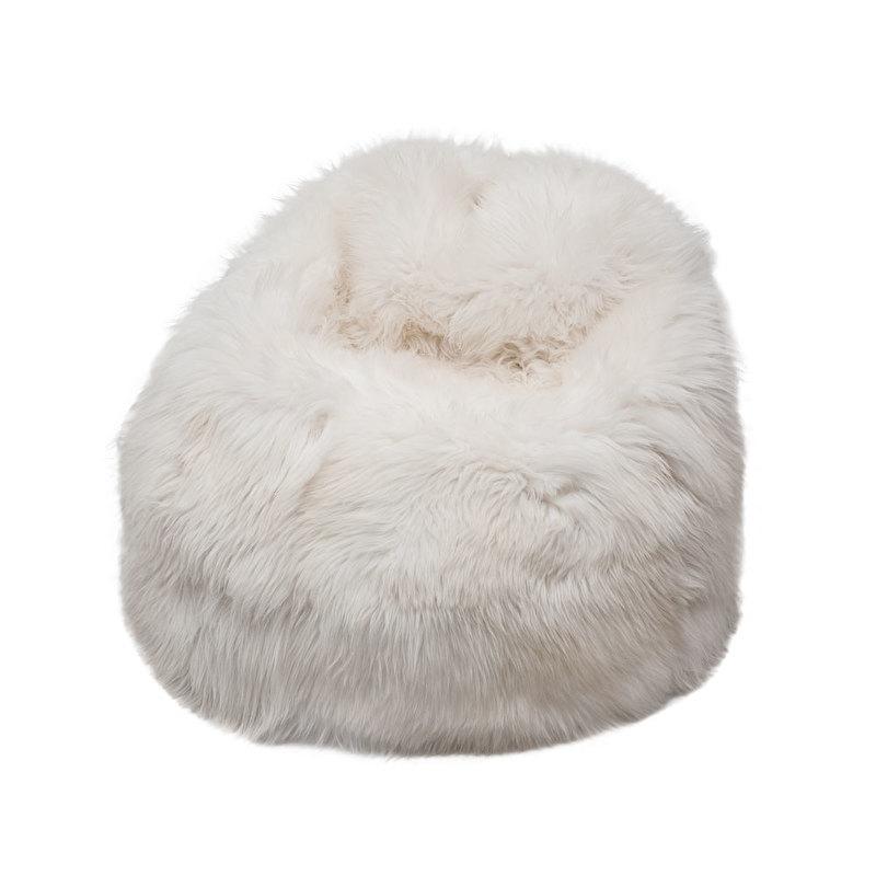 White Sheepskin Bean Bag