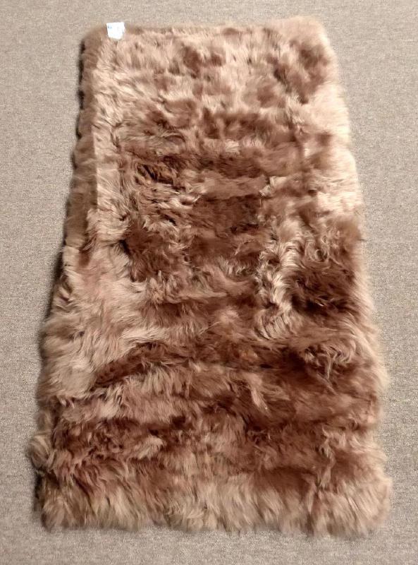 Beige Schapenvacht Tapijt, 65 x 130 cm