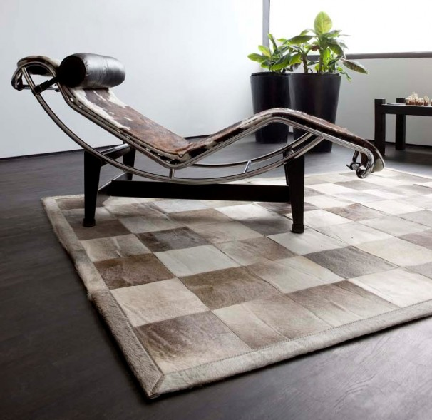 patchwork leather cowhide rugs
